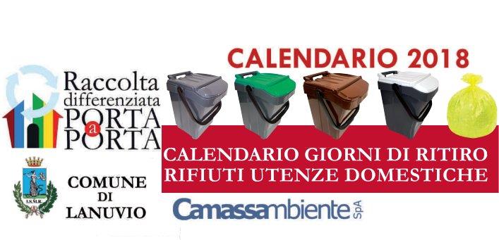 Raccolta Rifiuti Ingombranti Roma Calendario 2020.Raccolta Porta A Porta Dei Rifiuti Comune Di Lanuvio
